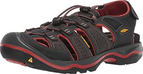 KEEN New Men's Rialto II H2 Sport Sandal Black/Brick Red