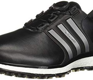 adidas Men's Spikeless BOA Golf Shoe, core Black/Iron Metallic/Silver Metallic