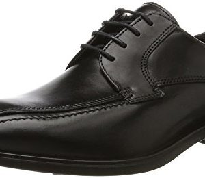 ECCO Men's Melbourne Bike Tie Oxford, Black