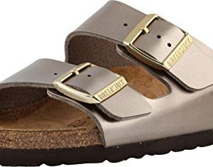 Birkenstock Womens Arizona Birko-Flor Sandals, Electric Taupe