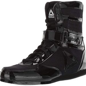 Reebok Men's Boot Boxing Shoe, Black/Black