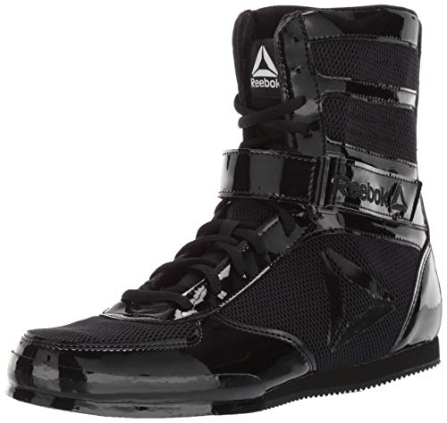 Reebok Men's Boot Boxing Shoe, Black/Black