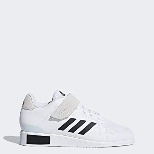 adidas Men's Power Perfect III. Cross Trainer, White/Black/White