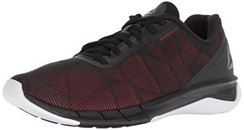 Reebok Men's Fast Flexweave, Black/Primal red/Shark/wh