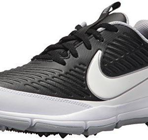 NIKE Men's Explorer Golf Shoe, Black/White/Metallic Silver/Wolf Grey