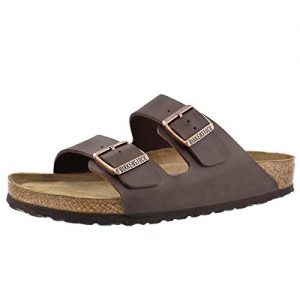 Birkenstock Men's Arizona 2-Strap Cork Soft Footbed Sandal Brown
