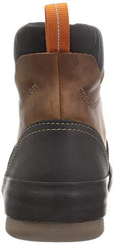 Clarks Men's Bowman Top Ankle Boot, Dark tan Leather Heel Height 1.37 inches Boot Shaft Height 5.11 inches Boot Shaft Circumference 10.23 inches OrthoLite footbed; Cushion Soft know-how Waterproof This males's low boot is totally waterproof, making it good for chilly and wet months. The bowman prime by Clarks assortment is constructed of waterproof leather-based and a treaded rubber outsole. A frontal zip closure makes for straightforward on and off, whereas the ortholite footbed with cushion comfortable padding gives severe consolation for out of doors actions.
