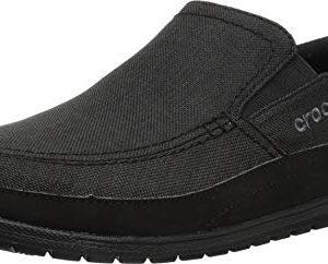 Crocs Men's Santa Cruz Playa Slip-On Loafer, Black/Black