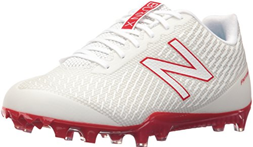 New Balance Men's BURN Low Speed Lacrosse Shoe, White/Red
