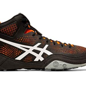 ASICS Men's Dan Gable EVO 2 Wrestling Shoes, Black/Shocking Orange