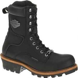 Harley-Davidson Men's Tyson Logger Boot,Black,10 M US