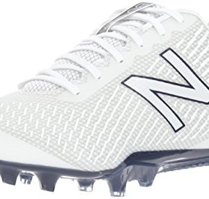 New Balance Men's BURN Low Speed Lacrosse Shoe, White/Blue