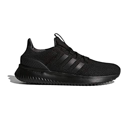 adidas Men's Cloudfoam Ultimate Running Shoe, Black/Black/Utility Black