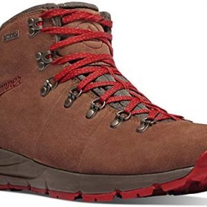 "Danner Men's Mountain 600 4.5"" Hiking Boot, Brown/Red - Suede"