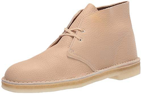 Clarks Men's Desert Chukka Boot, Off White Leather