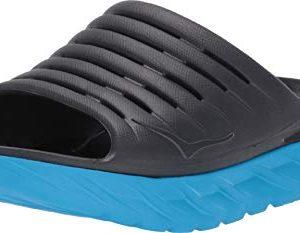 HOKA ONE ONE Men's Ora Recovery Slide Ebony/Dresdon Blue Sandal