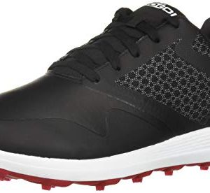 Skechers Men's Max Golf Shoe, Black/red