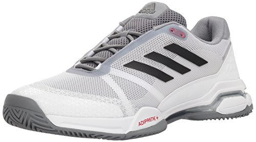 adidas Performance Men's Barricade Club Tennis Shoe, White/Black/Grey