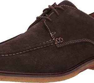 CLARKS Men's Clarkdale Apron Oxford, Dark Brown Suede