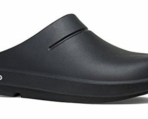 OOFOS Women's OOcloog Clog, Black/Matte Finish