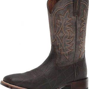 ARIAT Men's Ryden Ultra Western Boot Chocolate Elephant Print