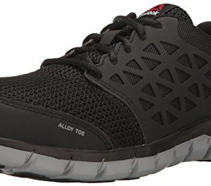 Reebok Work Men's Sublite Cushion Work RB4041 Industrial and Construction Shoe, Black, 12 M US
