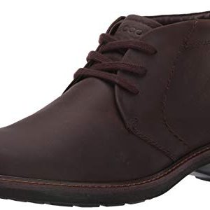 ECCO Men's Turn Hydromax Water-Resistant Boot, Coffee Oil Nubuck