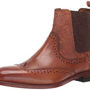 STACY ADAMS Men's M2 Wingtip Chelsea Boot, Cognac