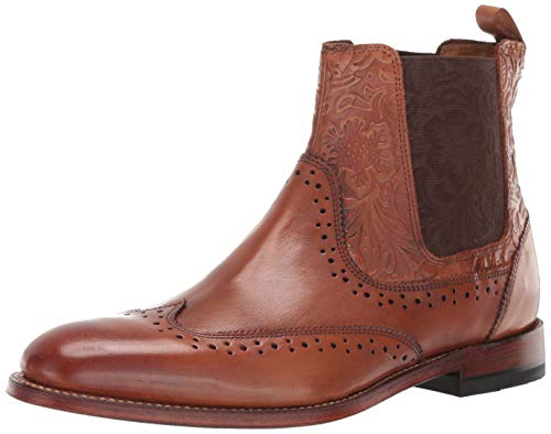 STACY ADAMS Men's M2 Wingtip Chelsea Boot, Cognac