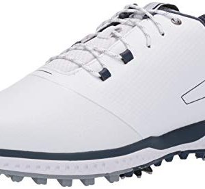 Under Armour Men's Fade RST II Golf Shoe, White (100)/Steel