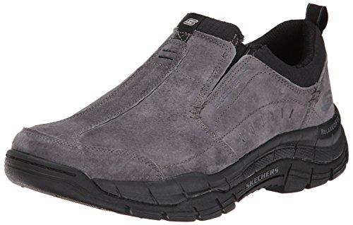 Skechers Sport Men's Rig Mountain Top Sneaker,Charcoal/Black