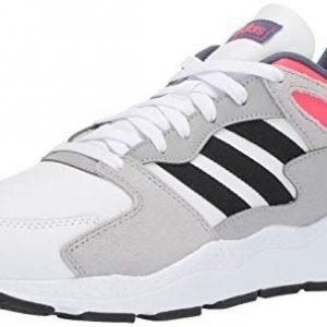 adidas Men's Chaos Sneaker, White/Black/Shock Red