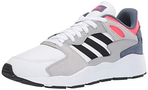 adidas Men's Chaos Sneaker, White/Black/Shock Red