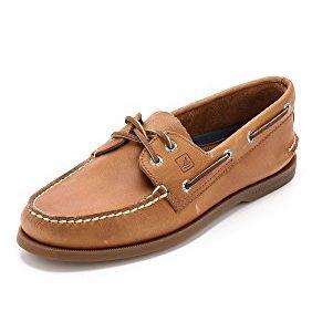 Sperry Mens A/O 2-Eye Boat Shoe, Sahara