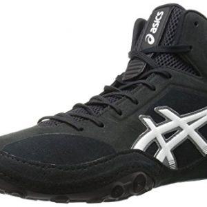 ASICS Men's Dan Gable Evo Wrestling Shoe, Black/White/Carbon