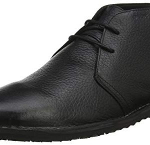 Geox Men's Zal 8 Chukka Boot, Black