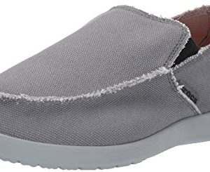 Crocs Men's Santa Cruz Loafer, Charcoal/Light Grey