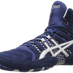 ASICS Men's Dan Gable Ultimate 4 Wrestling Shoe, Estate Blue/Silver