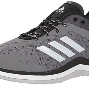 adidas Men's Speed Trainer 4 Baseball Shoe, Grey/Crystal White/Black