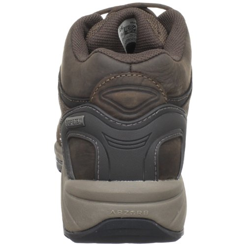 New Balance Men's Walking Shoe, Brown Waterproof and breathable GORE-TEX membrane Dual-density foam-padded collar ABZORB foam cushioning Built on OL-1 last for hiking with narrow heel width, high instep, deep toe box, and wide forefoot Polyurethane insert provide excellent cushioning A rugged country walker with the stability of ROLLBAR and the protection of ROCK STOP combined with Gore-Tex for exploring adventurous environments.