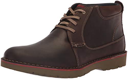 Clarks Men's Vargo Mid Ankle Boot, Dark Brown Leather