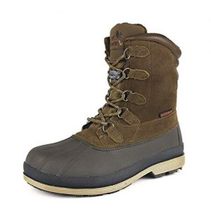 NORTIV 8 Men's Khaki Brown Insulated Waterproof Work Snow Boots