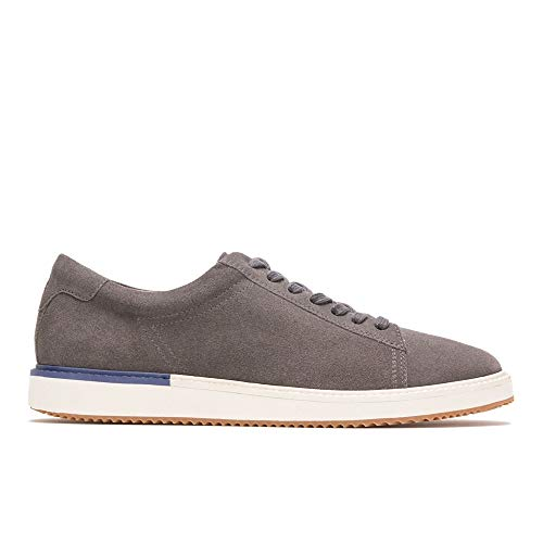 Hush Puppies Men's Heath Sneaker Oxford, Dark Grey Suede