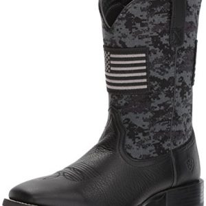 Ariat Men's Sport Patriot Western Boot, Deer tan/Black camo Print, 10.5 E US