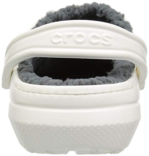 Crocs Classic Lined Clog, white/grey WARM AND FUZZY FEELINGS INSIDE: Designed with perform and heat in thoughts, the smooth and lined Crocs for women and men are nice as a slipper but additionally good for operating errands SAME CLASSIC FIT: The identical legendary clogs with a toasty lined fuzz are the Crocs ladies and men have to maintain the sensation going all season; Traditional heel straps provide you with a safe match or step in and go consolation CRADLING COMFORT: Incredibly gentle and simple to put on, the Crocs clogs for ladies and men are created with Croslite foam, providing Dual Crocs Comfort that's blissfully supportive, smooth and cradling MAKE THEM YOUR OWN: These ladies's and males's Crocs supply a roomy and beneficiant match that's certain to match your foot; The Crocs clogs might be custom-made with Jibbitz charms to mirror your personal private aptitude CROCS FOR WOMEN AND MEN: The fuzz lined Classic Crocs are enjoyable to put on inside and outside; The choices are limitless while you increase your wardrobe with these fuzzy clogs Everybody loves the consolation of the Crocs Classic Clog — and now there's a toasty lined model to maintain the sensation going all season. The smooth, fuzzy liner provides to the cushion and luxury, indoors or out. Great as a slipper, but succesful to run errands, too. Croslite foam development retains them gentle and simple to put on. The pivoting heel strap provides you a safe match, or push it ahead to only step in and go.