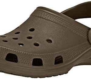 Crocs Women's Classic Clog | Comfortable Slip on Casual Water Shoe, Chocolate