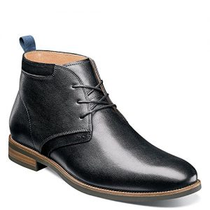 Florsheim Uptown Plain Toe Chukka Boot Black Leather/Suede