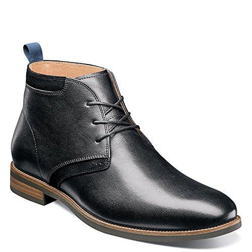 Florsheim Uptown Plain Toe Chukka Boot Black Leather/Suede