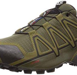 Salomon Men's Speedcross 4 Trail Running Shoes, Grape Leaf/Burnt Olive/Black