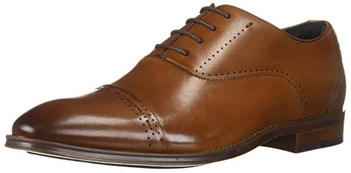 STACY ADAMS Men's Barris Cap-Toe Lace-Up Oxford, Cognac